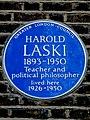 HAROLD LASKI 1893-1950 Teacher and political philosopher lived here 1926-1950.jpg