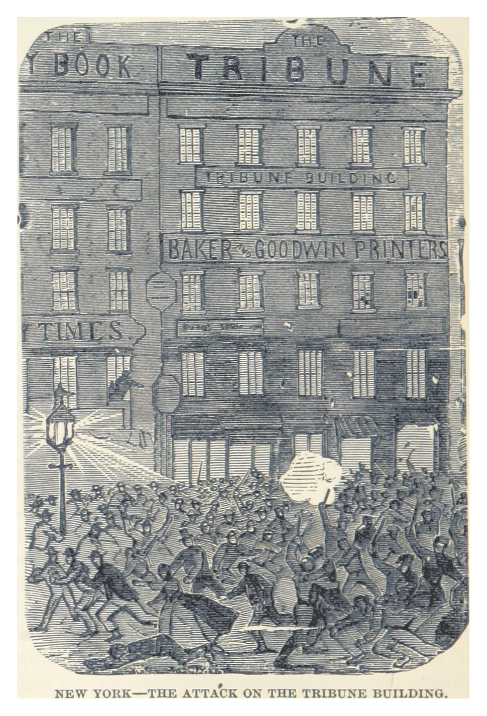 HEADLEY(1882) -p170 New York - the attack on the Tribune building