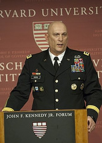 Raymond T. Odierno -  Odierno addresses the Harvard Kennedy School of Government's Institute of Politics JFK Jr. Forum on 9 March 2011.