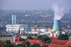 Electricity sector in Germany - Gas power station Nossener Brücke in Dresden