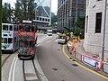HK 中環 Central 香港中國銀行 舊大廈 Bank of China Building 德輔道中 Des Voeux Road near Queensway October 2018 SSG tram body ads.jpg