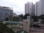 HK 香港南區 Southern District 薄扶林道 Pokfulam Road 瑪麗醫院 Queen Mary Hospital footbridge evening June 2019 SSG 01.jpg