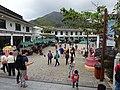 HK Ngon Ping Village 昂坪市集 mkt outdoor square visitors April 2016 DSC.JPG
