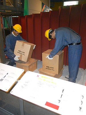 HK TST East Science Museum 職業安全健康局 OSHC Jack figure Occupational Safety & Health Council workplace Porters labour at work Jan-2012.JPG