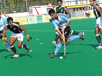 Pakistan men's national field hockey team - Pakistan playing against Argentina in 2005.