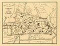 HUA-212037-Plattegrond van de stad Utrecht met directe omgeving met weergave van het stratenplan met genummerde straten wegen en watergangen en aanduiding van de.jpg