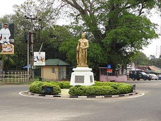 Habarana Town in North Central Province, Sri Lanka