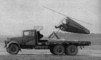 Airborne Forces Experimental Establishment - Ground test of a Rotachute III at Ringway, 1942