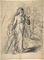 Hagar and Ishmael in the Wilderness (recto); Two Portrait Studies of the Artist's Wife, and a Study of a Leg and Torso (verso) MET DP805905.jpg