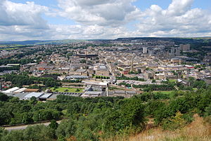 Halifax, West Yorkshire - Image: Halifax view from Beacon Hill