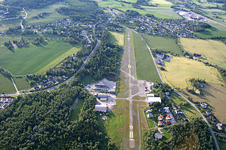 Hamar Airport, Stafsberg airport in Hamar, Norway