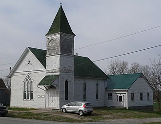 National Register of Historic Places listings in Brown County, Kansas - Image: Hamlin Baptist Church (Hamlin KS) from NE 1