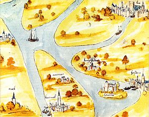 Ammersoyen Castle - Ammersoyen on a map of ca. 1534