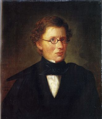 Hans Linstow - Portrait of Linstow by Carl Peter Lehmann, 1842