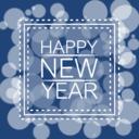 Happy new year bokeh