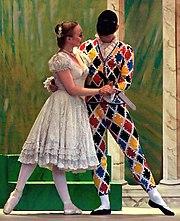 Kolombína a Harlekýn při tanci