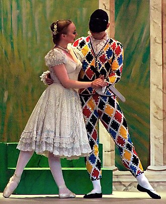 Tivoli (Copenhagen) - Harlekin and Columbine at The Pantomime Theatre