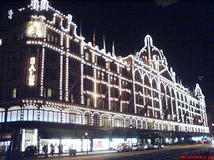 Harrods Christmas lights 2008