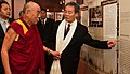 Harry Wu wearing Tibetan ceremonial scarf and holding hands of the 14th Dalai Lama of Tibet during his visit to the Laogai Research Foundation and Museum on October 7, 2009, from- DalaiLama LRF2009 (cropped).jpg