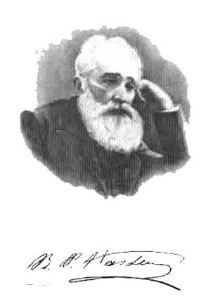 Bogdan Petriceicu Hasdeu - Hasdeu: photograph and signature
