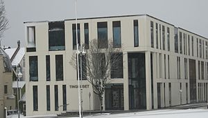 Haugaland District Court - The new Haugesund Courthouse, the current location of Haugaland District Court