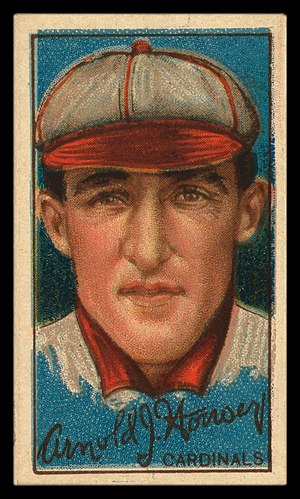 Arnold Hauser - Hauser's 1912 trading card issued by the American Tobacco Company.
