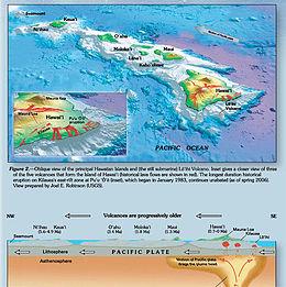 Geography Map Hawaiian Islands