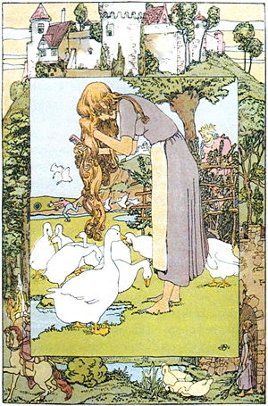 "The Goose Girl - ""The Goose Girl"" Illustration by Heinrich Vogeler"