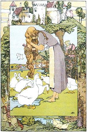 """The Goose Girl - """"The Goose Girl"""" Illustration by Heinrich Vogeler"""
