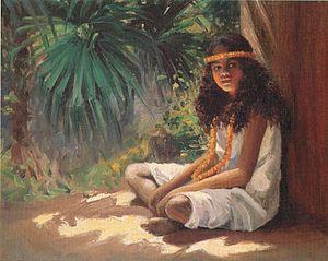 Helen Thomas Dranga - Image: Helen Thomas Dranga 'Portrait of a Polynesian Girl', oil on canvas, c. 1910