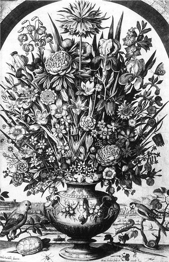 Flower Piece with Birds