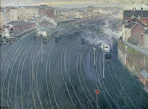 Henri Ottmann - Image: Henri Ottmann, 'The Luxembourg Station in Brussels', 1903