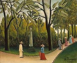 Jardin du Luxembourg. Monument de Chopin, de Henri Rousseau (1909)