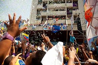 Henrique Capriles - Henrique Capriles in Cumaná, Venezuela, prior to the 2013 presidential elections.