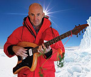 Henry Kaiser (musician) - Kaiser with Timberdance Swamp Angel Guitar