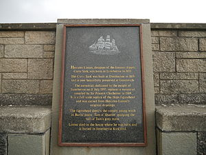 Hercules Linton - Memorial plaque in Inverbervie, featuring a short biography