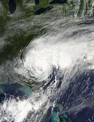 Hurricane Hermine - Tropical Storm Hermine over Southeastern U.S. on September 2