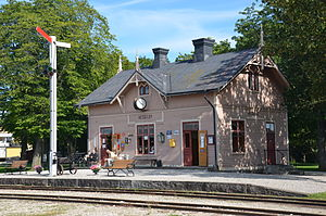 Dalhem, Gotland - The old Hesselby station in Dalhem