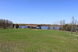 Highland Recreation Area - Image: Highland Recreation Area Michigan Lakeside Picnic Area