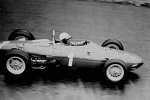 Phil Hill - Hill driving for Ferrari at the 1962 German Grand Prix.