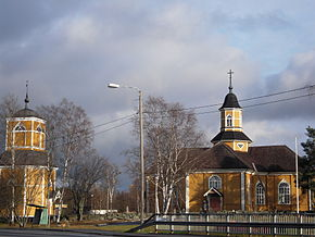 Himanka, FI Church and Belltower.JPG