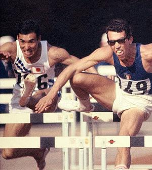 Hirokazu Yasuda - Hirokazu Yasuda (left) at the 1964 Olympics