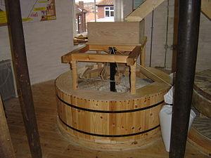 Holgate Windmill - The millstones inside the mill