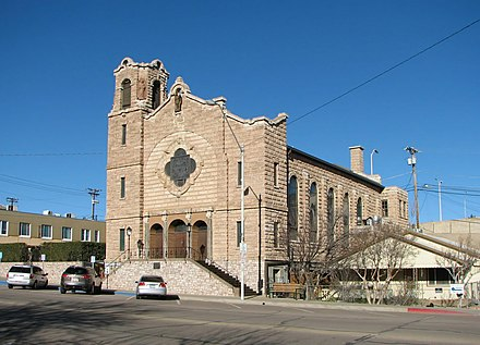 Holy Angels Catholic Church, built in 1918 Holy Angels Church, Globe.jpg