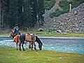 Horse and rider at Mahodand Lake.jpg