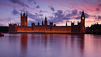 United Kingdom constitutional law - Parliament at the Palace of Westminster is central to the UK's democratic constitution. The House of Commons represents around 65 million people in 650 UK constituencies. The House of Lords remains unelected but can be overruled.