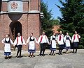 Hungarian Dances in front of the Catholic church of Kelebija.JPG