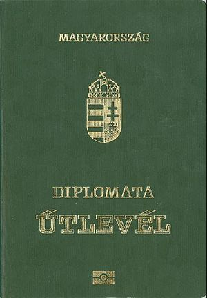 Hungarian passport - Image: Hungarian Diplomatic Passport