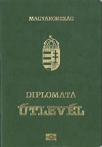 Hungarian passport - Image: Hungarian Diplomatic Passport