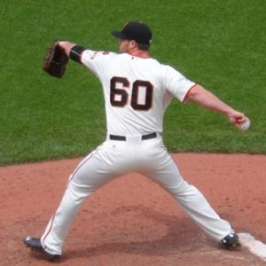 Hunter Strickland - Strickland pitching for the San Francisco Giants in 2015